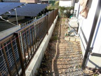 彦根市 リフォーム B様邸 (フェンス工事・外溝撤去・物置撤去)